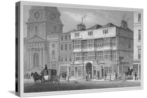 The White Hart Inn at No 119 White Hart Court, Bishopsgate, City of London, 1829-S Lacey-Stretched Canvas Print