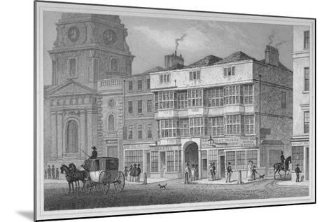 The White Hart Inn at No 119 White Hart Court, Bishopsgate, City of London, 1829-S Lacey-Mounted Giclee Print