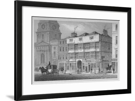 The White Hart Inn at No 119 White Hart Court, Bishopsgate, City of London, 1829-S Lacey-Framed Art Print