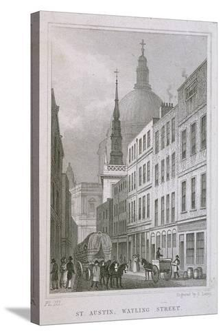 St Augustine, Watling Street, London, C1830-S Lacey-Stretched Canvas Print