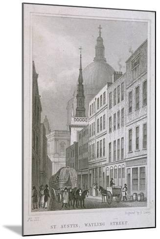 St Augustine, Watling Street, London, C1830-S Lacey-Mounted Giclee Print