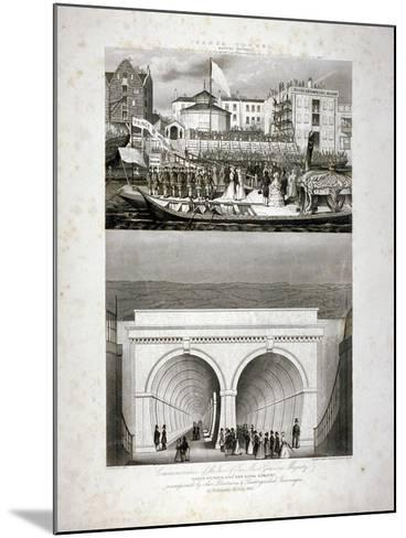 Two Views of the Thames Tunnel, Commemorating the Visit by Queen Victoria, London, 1843-T Brandon-Mounted Giclee Print