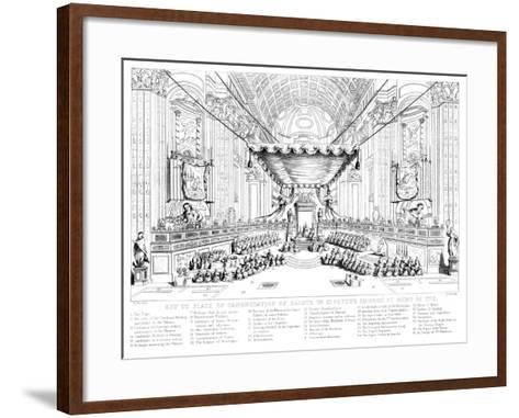 Canonisation of Saints in St Peter's Church, Rome, 1712-T Brown-Framed Art Print