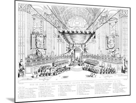 Canonisation of Saints in St Peter's Church, Rome, 1712-T Brown-Mounted Giclee Print