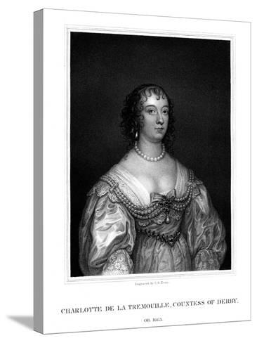 Charlotte Stanley, Countess of Derby-TA Dean-Stretched Canvas Print