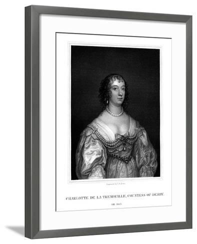 Charlotte Stanley, Countess of Derby-TA Dean-Framed Art Print