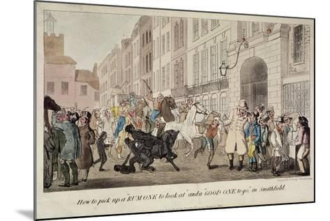People Bargaining for Mounts at West Smithfield, London, 1825-Theodore Lane-Mounted Giclee Print
