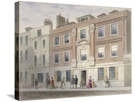 View of a Mansion in Great Winchester Street, City of London, 1841-Thomas Hosmer Shepherd-Stretched Canvas Print