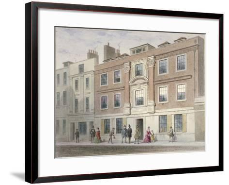 View of a Mansion in Great Winchester Street, City of London, 1841-Thomas Hosmer Shepherd-Framed Art Print