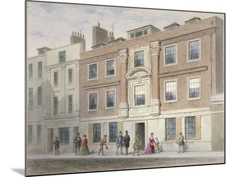 View of a Mansion in Great Winchester Street, City of London, 1841-Thomas Hosmer Shepherd-Mounted Giclee Print