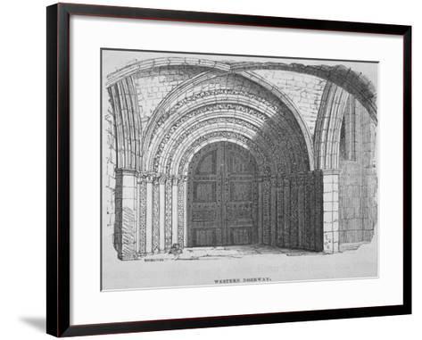 West Entrance of Temple Church, City of London, 1835-Samuel Williams-Framed Art Print
