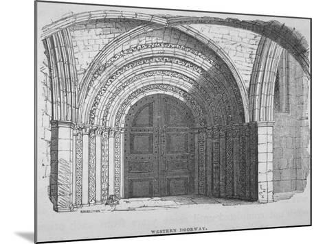 West Entrance of Temple Church, City of London, 1835-Samuel Williams-Mounted Giclee Print