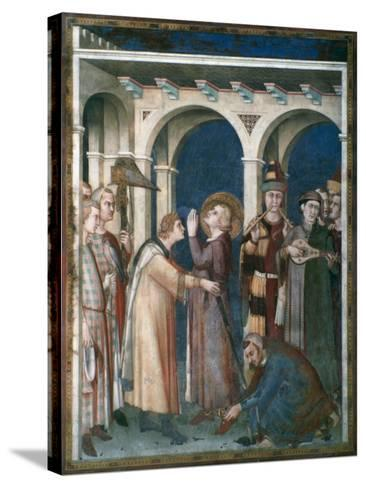 St Martin Is Knighted, 1312-1317-Simone Martini-Stretched Canvas Print