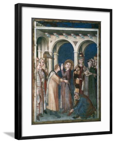 St Martin Is Knighted, 1312-1317-Simone Martini-Framed Art Print
