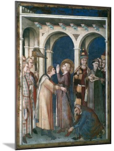 St Martin Is Knighted, 1312-1317-Simone Martini-Mounted Giclee Print