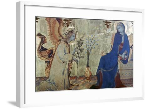 The Annunciation and Two Saints, (Detail), 1333-Simone Martini-Framed Art Print