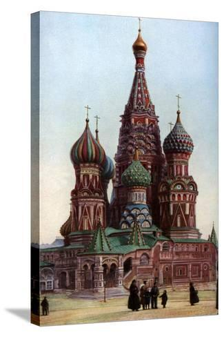Cathedral of St Basil, Moscow, Russia, C1930S-SJ Beckett-Stretched Canvas Print