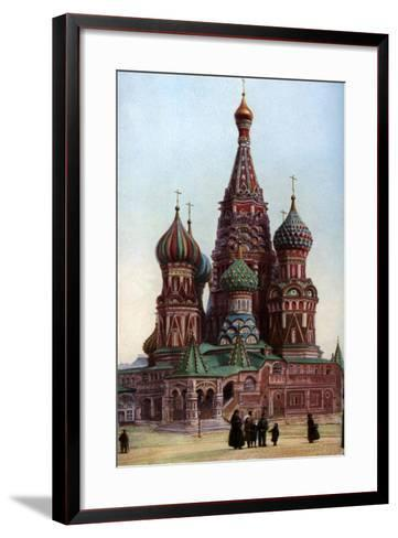 Cathedral of St Basil, Moscow, Russia, C1930S-SJ Beckett-Framed Art Print
