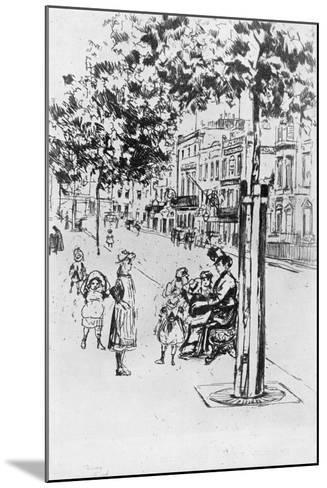Chelsea Children, 1913-Theodore Roussel-Mounted Giclee Print