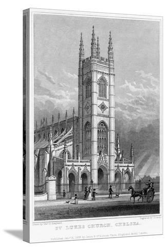 St Luke's Church, Chelsea, London, 1828-S Lacey-Stretched Canvas Print