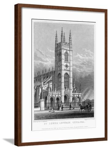 St Luke's Church, Chelsea, London, 1828-S Lacey-Framed Art Print