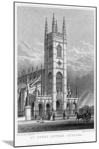St Luke's Church, Chelsea, London, 1828-S Lacey-Mounted Giclee Print
