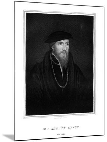 Sir Anthony Denny, Courtier of Henry VIII-TA Dean-Mounted Giclee Print