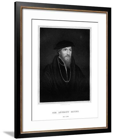 Sir Anthony Denny, Courtier of Henry VIII-TA Dean-Framed Art Print