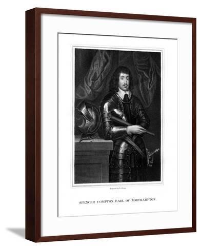 Spencer Compton, 2nd Earl of Northampton, Royalist Soldier-TA Dean-Framed Art Print