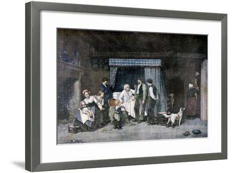 The Worker and His Children, 1892-Theophile Emmanuel Duverger-Framed Art Print