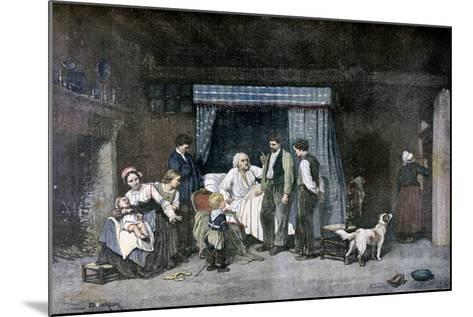 The Worker and His Children, 1892-Theophile Emmanuel Duverger-Mounted Giclee Print