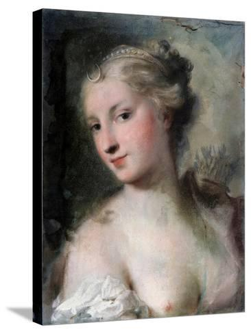 Diana, after 1746-Rosalba Giovanna Carriera-Stretched Canvas Print