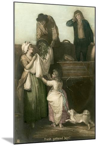 Fresh Gathered Peas- Rotophot-Mounted Giclee Print