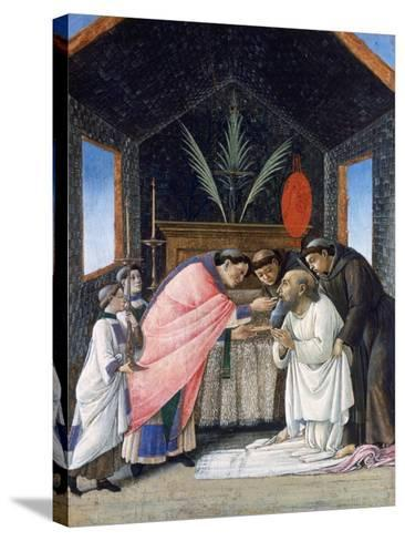 The Last Communion of St Jerome, C1495-Sandro Botticelli-Stretched Canvas Print