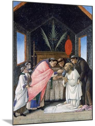 The Last Communion of St Jerome, C1495-Sandro Botticelli-Mounted Giclee Print