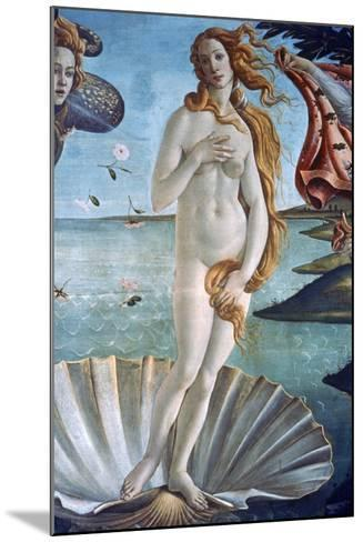 The Birth of Venus (Detail), C1485-Sandro Botticelli-Mounted Giclee Print