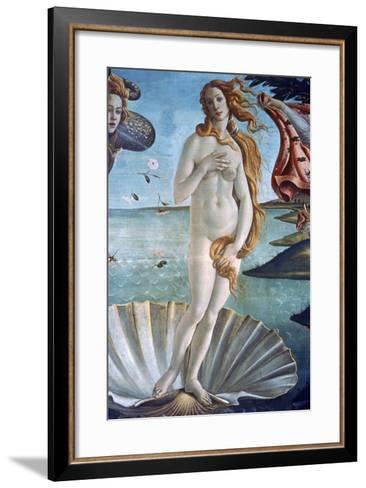The Birth of Venus (Detail), C1485-Sandro Botticelli-Framed Art Print