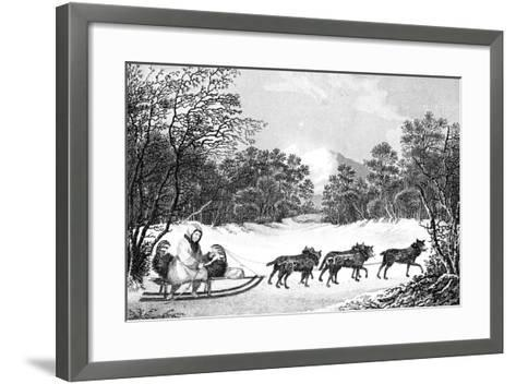 The Manner of Travelling in Winter in Kamtschatka, 19th Century- Sparrow-Framed Art Print