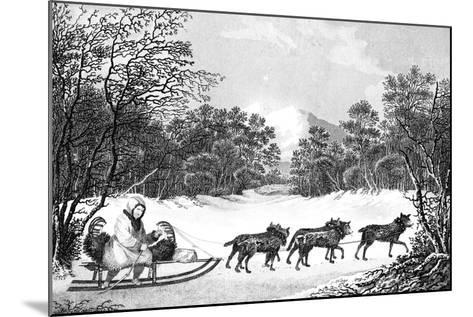 The Manner of Travelling in Winter in Kamtschatka, 19th Century- Sparrow-Mounted Giclee Print