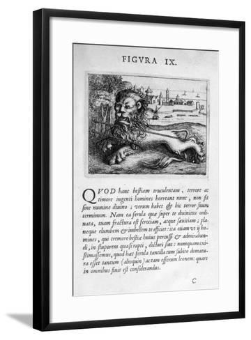 Prophecy Figure IX from Prognosticatio Eximii Doctoris Paracelsi, 1536-Theophrastus Bombastus von Hohenheim Paracelsus-Framed Art Print