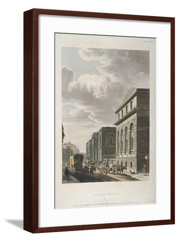 View of Old Bailey, Looking North, City of London, 1814-Rudolph Ackermann-Framed Art Print