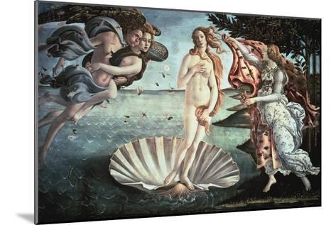 The Birth of Venus, C1482-Sandro Botticelli-Mounted Giclee Print
