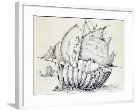 The Ship, C1850-1890-Stanislas Lepine-Framed Art Print
