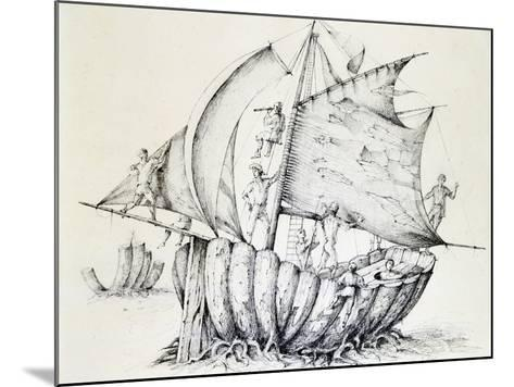 The Ship, C1850-1890-Stanislas Lepine-Mounted Giclee Print
