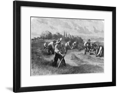 Haymaker, 1875-W Hollidge-Framed Art Print