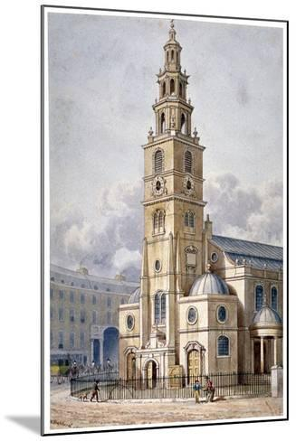 South-West View of the Church of St Clement Danes, Westminster, London, 1814-Thomas Hosmer Shepherd-Mounted Giclee Print
