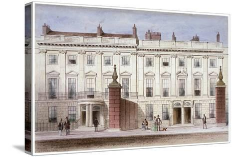 View in Lincoln's Inn Fields Showing Lindsey House, Holborn, London, C1835-Thomas Hosmer Shepherd-Stretched Canvas Print