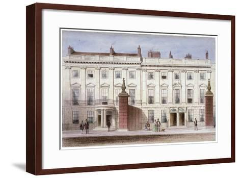 View in Lincoln's Inn Fields Showing Lindsey House, Holborn, London, C1835-Thomas Hosmer Shepherd-Framed Art Print