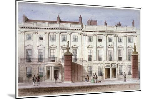 View in Lincoln's Inn Fields Showing Lindsey House, Holborn, London, C1835-Thomas Hosmer Shepherd-Mounted Giclee Print