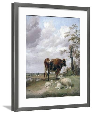 Canterbury Meadows, 19th Century-Thomas Sidney Cooper-Framed Art Print